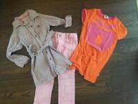 Girls Jeans, blouse dress (Lisa Rose), dress (smafolk), size 3 years