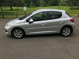 1 61 PEUGEOT 207 SPORTIUM 1.4 PETROL LONG MOT FSH SAT NAV BLUETOOTH CHEAP CAR