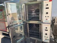 COMMERCIAL CATERING TOM CHANDLEY TWIN CONVECTION OVEN FAST FOOD KITCHEN BBQ SHOP TAKE AWAY