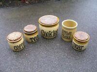 TG Green (Gresley) Kitchen Storage Jars