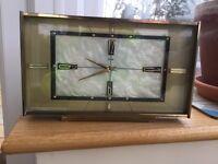 Marble Retro Mantle Clock