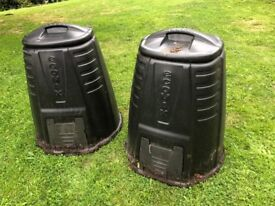 Black Plastic Compost Bins