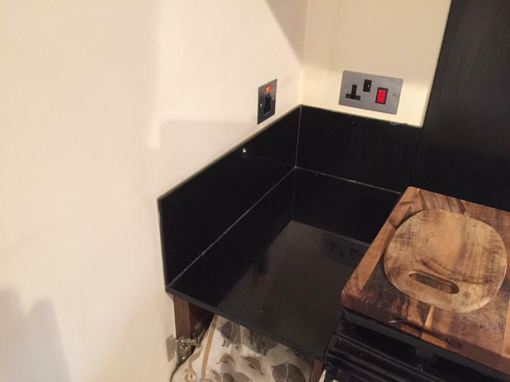 Glass worktops and up stands