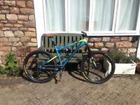 Almost new Boardman FS Pro mountain bike. 19'' with 27.5 inch wheels £1000 Ono