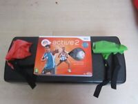 Wii Active 2 Trainer With Stepper and Exercise Band
