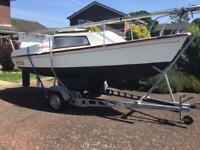 Sailing Yacht ,Trailer Sailer EXPRESS PIRATE 18' GPP & Trailer & Outboard £2495