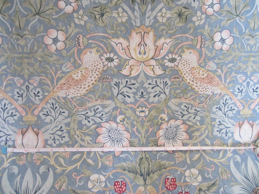 Sanderson William Morris Strawberry Thief Curtain Fabric 24 Metres Slate Colourway