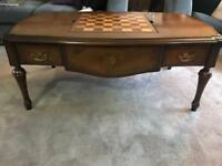 Willis and gambier Kensington burl game table.