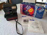 POLAROID TALKING CAMERA 636 COMPLETE IN THE BOX (WORKING IN VERY GOOD CONDITION)