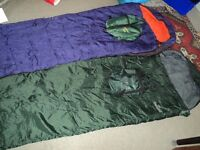 Two Eurohike sleeping bags and various others
