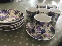 6 Espresso cups and saucers