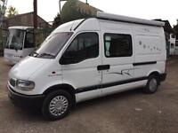 VAUXHALL MOVANO 2.5TD MWB HI-TOP 2 BERTH CONVERTED MOTORHOME WITH VERY LOW MILEAGE.