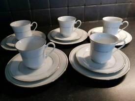 Crown Ming bone china tea set new in box