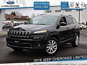 2016 Jeep Cherokee **LIMITED*AWD*CUIR*NAVI*CAMERA*A/C**