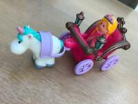 Happyland princess, horse and carriage.