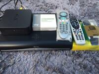 Sky +HD package with Sky hub router, remotes & leads
