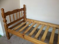 single solid wood bed frame
