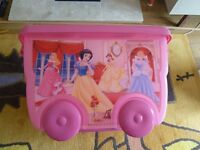 4 Disney Princess stack-able Storage Boxes good condition