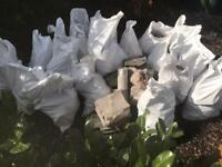 20 Bags clean hardcore Free (free local delivery too) Nailsea