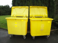 Wheelie Bin / Bins For Shops, Cafes, Restaurants, Animal MEAL Bins / Recycling & Waste Bins