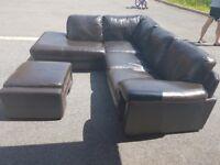 DFS corner sofa and footstool