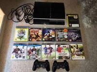 PS3 Console MEGA BUNDLE - GTA5, 11 Games, All Accessories!!