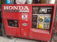 Spares or Repairs Silent Diesel Generator, Honda EX4000S