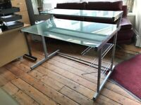 Frosted Glass Desk - from John Lewis