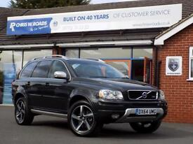 VOLVO XC90 2.4 D5 R-DESIGN AWD 5dr AUTO 200 BHP 7 Seater + A (grey) 2014