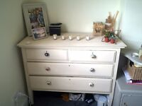 Solid wooden chest of drawers painting in Annie Sloan chalk paint