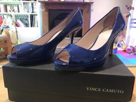 Vince Camuto blue peep toe heels. Size 7
