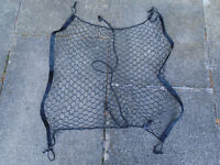"CARGO NET for CAR, VAN or ESTATE, with SEVERAL HOOKS, BLACK, BRAND NEW, 26"" x 26"" UNSTRETCHED, XMAS"