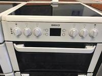 Beko white 60cm full electric cooker
