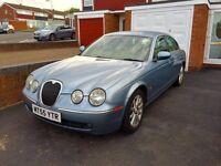 Jaguar S-Type, 2005, Blue, 2.7 Td6 Diesel, 136k Low Miles, Automatic, Service History, Luxury Car