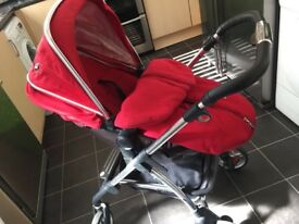 Silver Cross pram separate pushchair car seat foot muff and rain cover