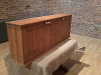Solid Pine Wall Unit/Cabinet - *Free Local Delivery