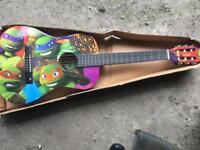 Ninja turtles acoustic guitar