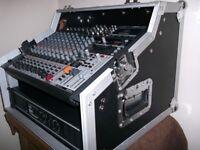 DJ/PA/ DISCO/KARAOKE SYSTEM. BEHRINGER XENYX 1832 USB MIXER(NEW 2017).W-AUDIO AMP, PEAVEY SPEAKERS,