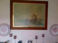 ORIGINAL BEN MAILE 'Windmill Country' SIGNED FRAMED PRINT