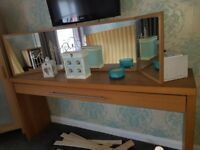 Ikea dressing table and mirror