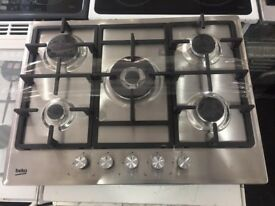 NEW-NEW** 5 Burner Gas Hob 70cm Warranty Included SALE ON- 10 left In stock warranty included