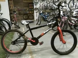 X-RATED QUARTER BMX BIKE 20 INCH WHEELS BLACK/RED GOOD CONDITION