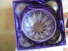Royal Rock Lead Crystal Bowl Set - Brand New & Boxed