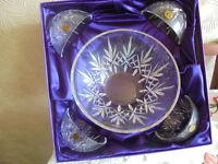 Royal Rock Lead Crystal Bowl Set - Brand New & Boxed