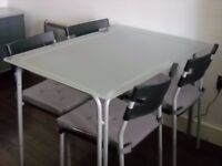 SET OF TABLE + 4 CHAIRS - Ikea Laver - very good condition