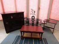Job Lot of miscellaneous furniture. Corner Unit, Coffee table, Small table, TV corner unit
