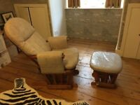 Glider chair & footstool