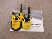Motorola Talkabout T6222 & TA-200 two radios