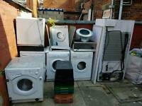 Appliances untested various washers dryers