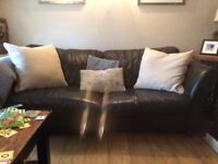 FREE Dfs 3 seater leather sofa